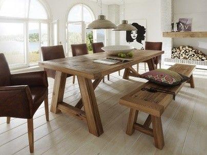 Table repas rectangulaire bois