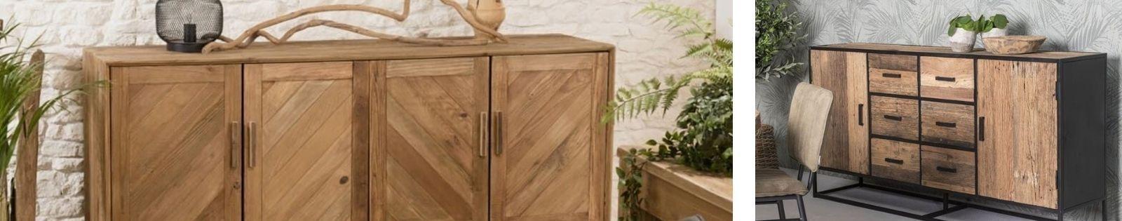 Buffet, vaisselier en bois massif recyclé de qualité   Lotuséa