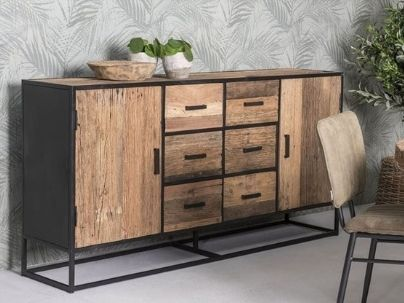 Buffet • Vaisselier en bois recyclé