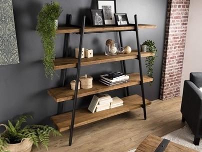 Étagère • Bibliothèque en bois recyclé