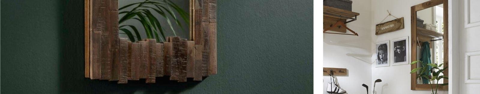 Miroir en bois massif : acacia, chêne, hévéa, teck... Lotuséa