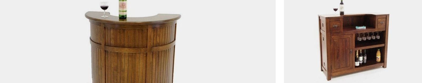 Bar en bois massif : meubles de très bonne qualité. Lotuséa.