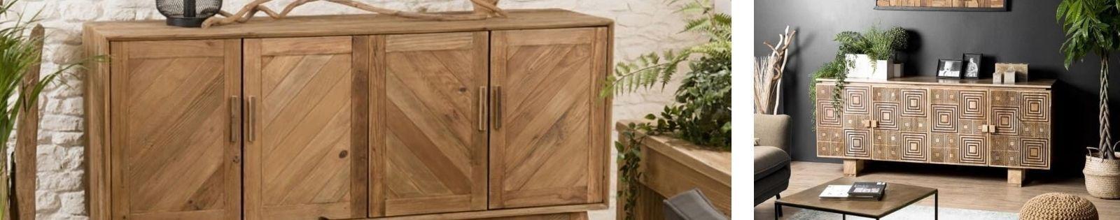 Buffet en bois massif : acacia, chêne, hévéa, teck... Lotuséa