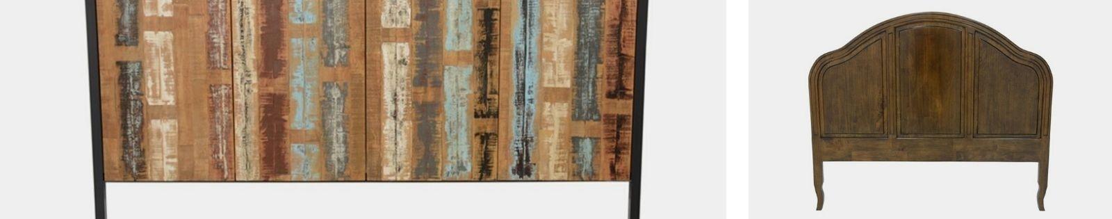Tête de lit en bois massif : acacia, chêne, hévéa, teck... Lotuséa