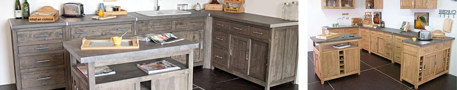 Meubles de cuisine en bois massif de qualité. Haut de gamme. Lotuséa