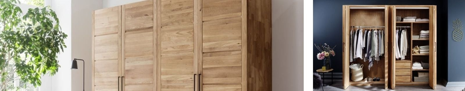 Armoire en bois massif : chêne, hevea, acacia, teck, bambou, rotin. Meubles pour la chambre. Lotuséa
