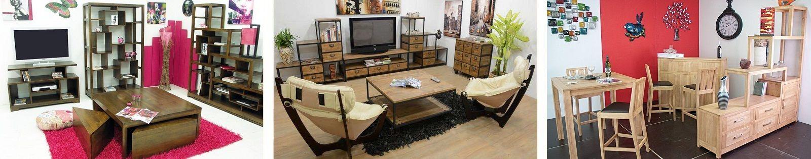 Meuble escalier en bois massif : hévéa. Meuble pour le salon. Lotuséa