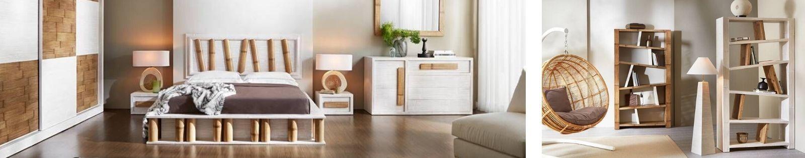 Meubles en bambou-Mobilier pour la chambre, le salon la salle à manger