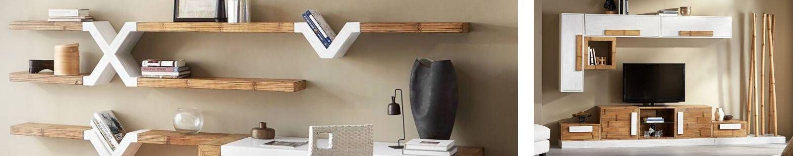 Modules en bambou. Décoration haut de gamme de fabrication artisanale.
