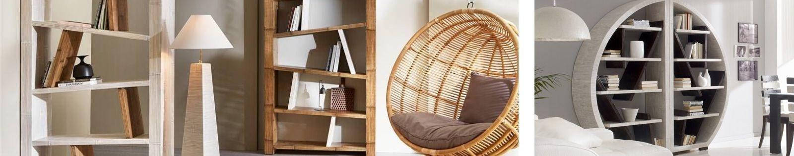Bibliothèque et étagère en bambou Haut de Gamme, en provenance d'Indonésie - Lotuséa