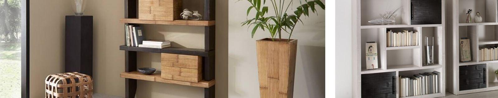 Etagères en bambou. Haut de Gamme de fabrication artisanale.