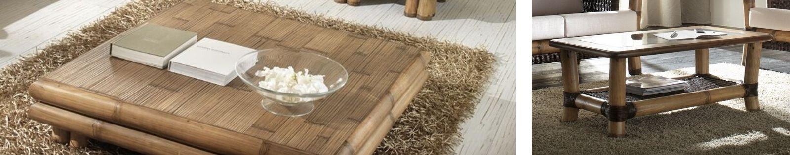 Table de salon bambou Haut de Gamme. tables basses pour compléter votre salons. Lotuséa