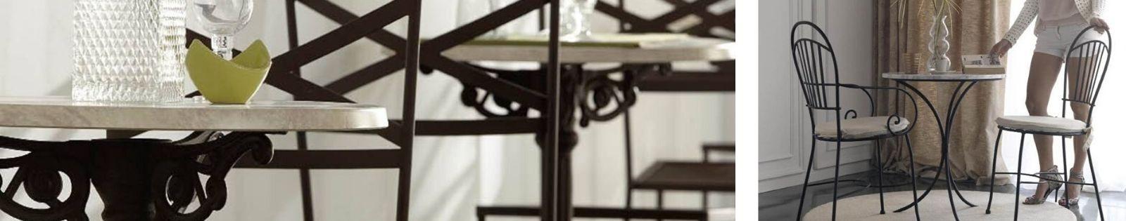 Table bar en Fer Forgé. Meuble de qualité. Fabrication artisanale.