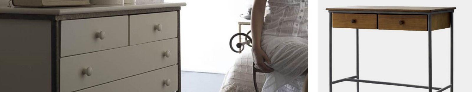 Commode en Fer Forgé pour compléter votre chambre à coucher. Lotuséa