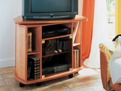 Meuble TV Rotin