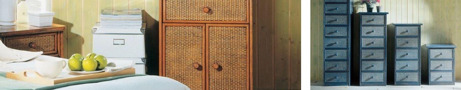 Chiffonnier Rotin : Haut de gamme de fabrication artisanale.