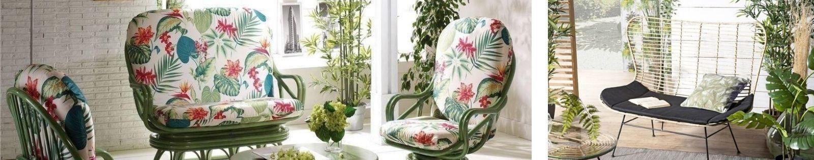 Salon en rotin : canapé, fauteuil, table basse de qualité - Lotuséa